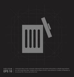 trash icon - black creative background vector image