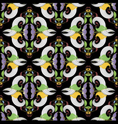 vintage elegance floral seamless pattern vector image