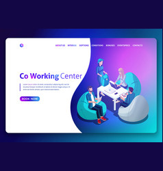 Website template design isometric concept vector