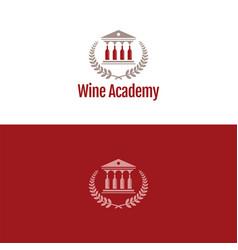 Wine academy logo and icon vector