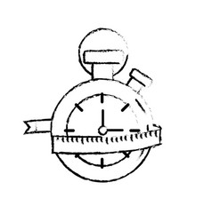 Figure chronometer with measuring to practice vector