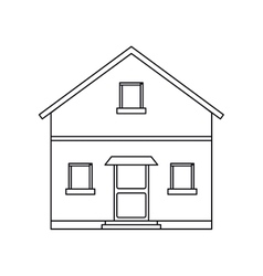 outline front view house home vector image vector image