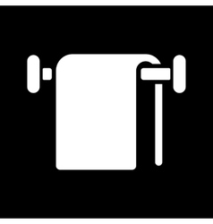 The towel icon Bathroom symbol Flat vector image