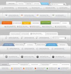 Web site design menu elements with icons set vector image vector image