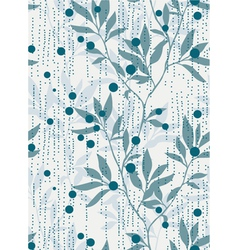 Foliage repeating pattern vector image vector image
