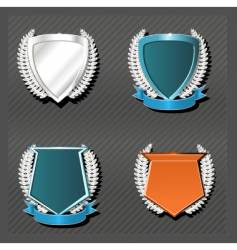 emblems series wreath vector image vector image