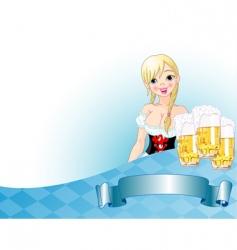 Oktoberfest girl background vector image vector image