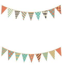 Party bunting background in flat style vector