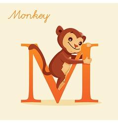 Animal alphabet with monkey vector image vector image