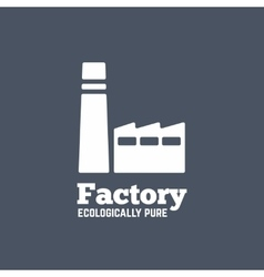 Flat style factory icon or logo template vector image