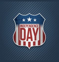 Fourth of july independence day colorful badge vector