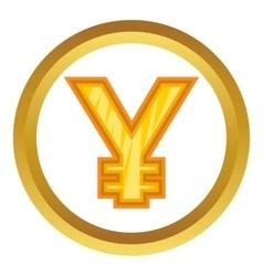 Japanese yen icon vector image