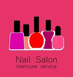 nail salon manicure vector image vector image