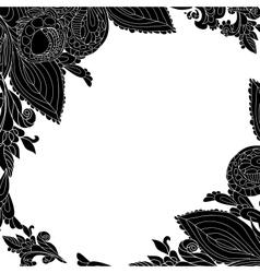 Vintage black floral ornament background vector image vector image