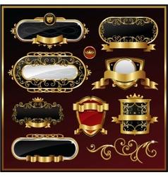 vintage gold framed labels vector image
