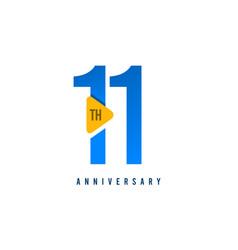 11 years anniversary celebration template design vector