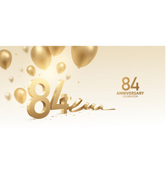 84th anniversary celebration background vector image