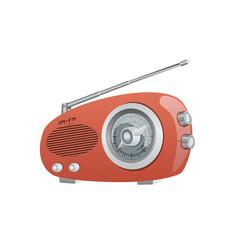 a vintage am fm radio vector image
