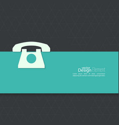 Abstract background with telephone vector