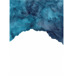 Abstract deep marine blue watercolor background vector