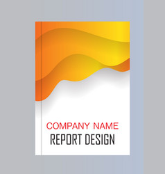 annual report brochure flyer design template vector image