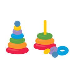 assembled disassembled children colorful plastic vector image
