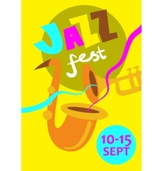 Autumn jazz festival concept vector