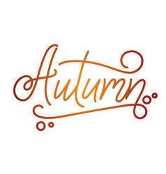 Autumn lettering hand written typography vector
