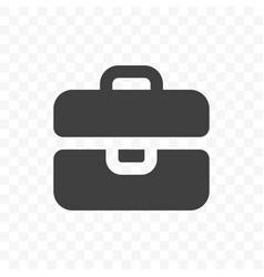 briefcase icon mobile app and web site portfolio vector image