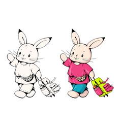 bunny vector image