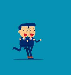 Business togetherness concept business teamwork vector