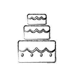 cake three floors vector image
