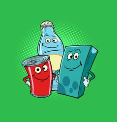 characters drinks milk cola juice vector image