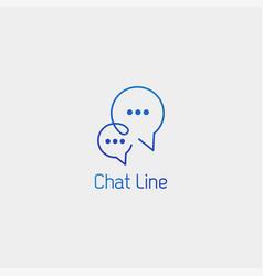 Chat message speech conversation logo template vector
