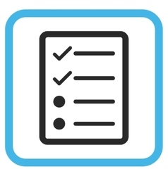 Checklist Page Icon In a Frame vector image