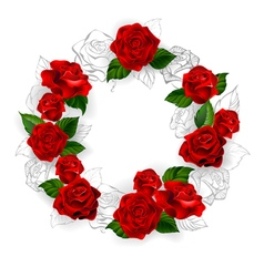 Circle of Red Roses vector
