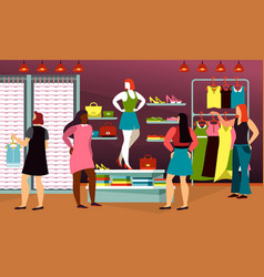 clothing fashion cloth shop for woman mannequin vector image