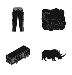 Clothing transport and or web icon in black style vector