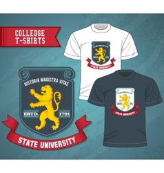 College Labels T-shirts vector