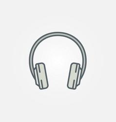 Colorful headphone icon headphones symbol vector