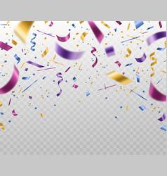 confetti falling multicolored foil and paper vector image
