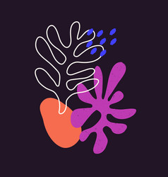 Contemporary composition with aesthetic hand vector