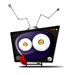 Crazy television vector