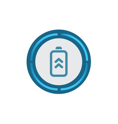 detailed battery scan icon vector image