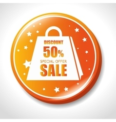 Discount special offer sale golden badge vector