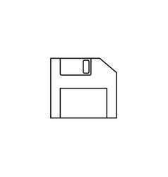 diskette icon flat design style diskette icon vector image