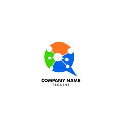 dna chat icon logo design element vector image