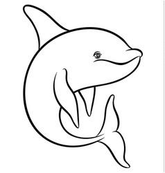 Dolphin or orca vector
