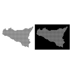 Dot sicilia map vector