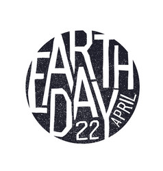Earth day 22 april holiday logotype design vector